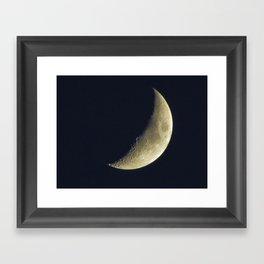 Sunset Crescent Framed Art Print