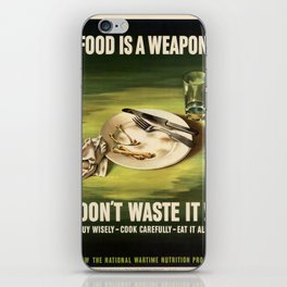 Vintage poster - Food is a Weapon iPhone Skin