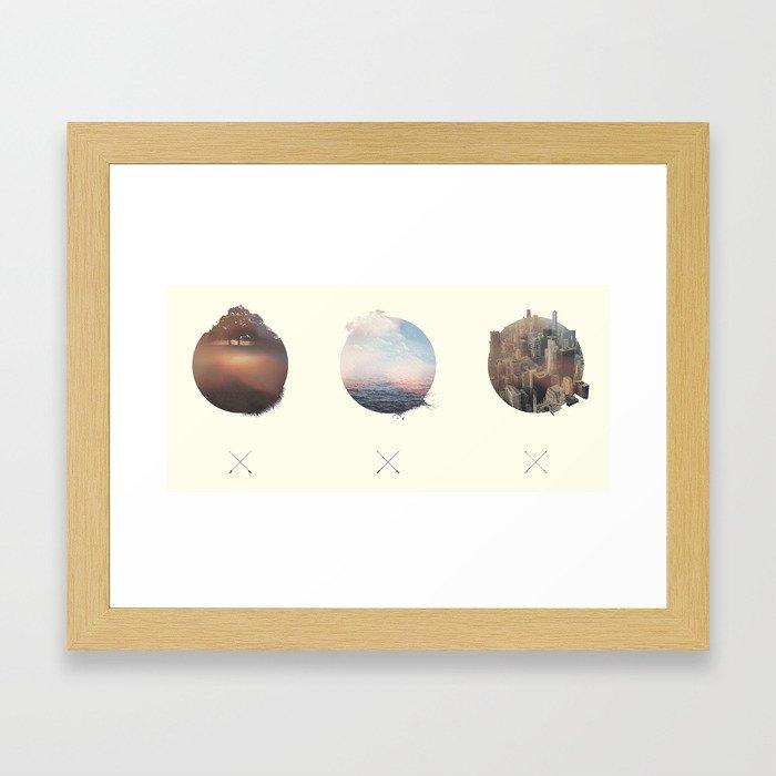 Complete Coast to Coast Framed Art Print