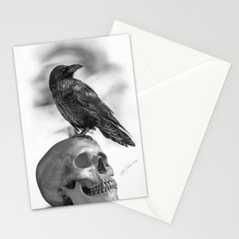 The Raven and The Skull - By Julio Lucas Stationery Cards