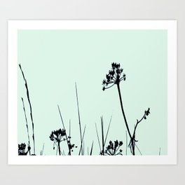SEA PLANTS GREEN&BLACK Art Print