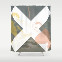 the xx Shower Curtains featuring XX by Itxaso Beistegui Illustrations