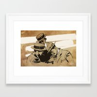 cigarette Framed Art Prints featuring cigarette  by Todd A. Winter