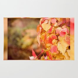 vine red yellow leaves abstract Rug