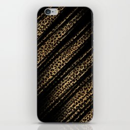 Black Leopard/Cheetah Print iPhone Skin
