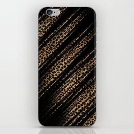 Black Leopard/Cheetah Print iPhone Skin