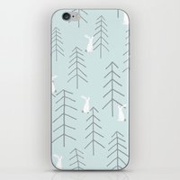 rabbits iPhone & iPod Skins featuring White rabbits by Dream Of Forest