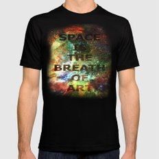 The Breath of Art Black SMALL Mens Fitted Tee