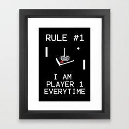 Player 1 Framed Art Print