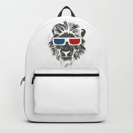 Lion with 3D sunglasses Backpack
