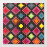 kilim Canvas Prints featuring kilim bold by Sharon Turner