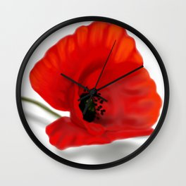 Lonely Poppy Wall Clock