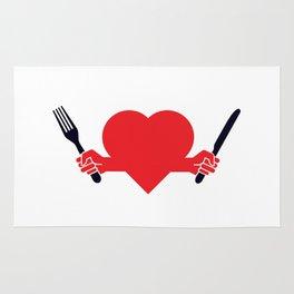 Hungry heart Rug