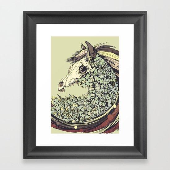 Beautiful Horse Old Framed Art Print