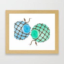 Glass Floats Framed Art Print