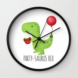 Party-Saurus Rex Wall Clock
