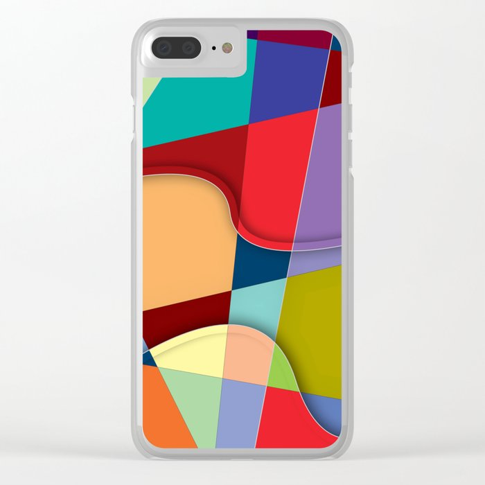 Abstract #303 Clear iPhone Case