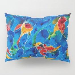 Koi Pond 2 - Liquid Fish Love Art Pillow Sham