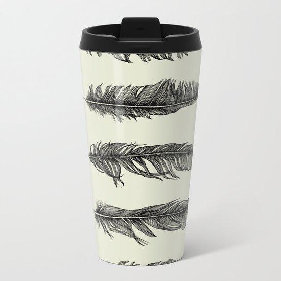 Lucky Five Feathers Metal Travel Mug