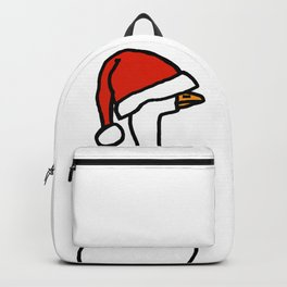 White Goose Wears Stolen Hat Backpack