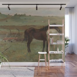 Horses in a Meadow Wall Mural