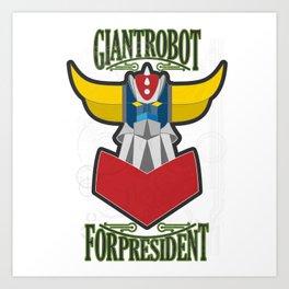 manga robots: grendizer for president Art Print