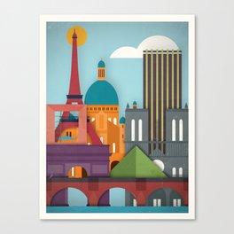 Touristique - Paris Canvas Print