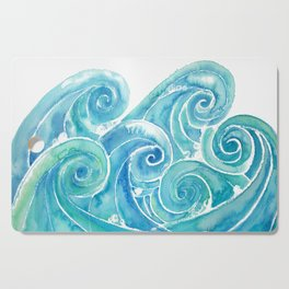 Watercolor Waves Cutting Board