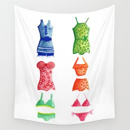 Evolution of the swimsuit Wall Tapestry