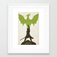 dragon age inquisition Framed Art Prints featuring Dragon Age: Inquisition V2 by FelixT
