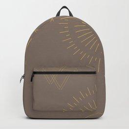 Sun Moon Triangle Yellow Backpack