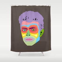 Hallo Spaceboy Shower Curtain