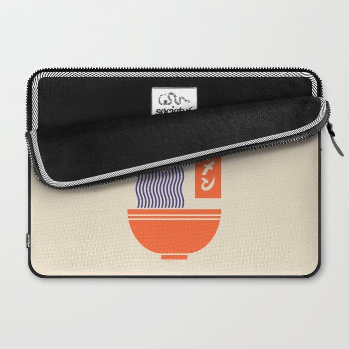 Ramen Japanese Food Noodle Bowl Chopsticks - Cream Laptop Sleeve
