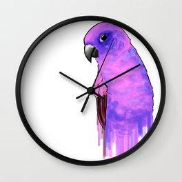 Sun Parakeet - Purple Wall Clock