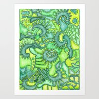 jungle Art Prints featuring Jungle by art by becera