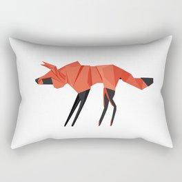 Origami Hyena Rectangular Pillow
