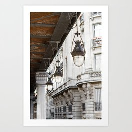 Bir-Hakeim bridge (2), Paris. Art Print