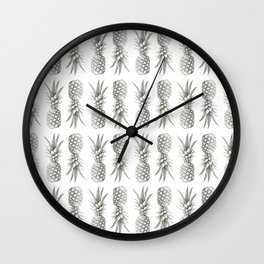 Pineapple Photography Print | Minimalism | Tropical Pattern Wall Clock