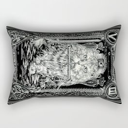 JUSTICE of Tarot Cat Rectangular Pillow
