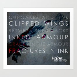The Clipped Wings series by Helena Hunting #1 Art Print