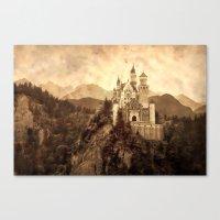 lichtenstein Canvas Prints featuring Lichtenstein Castle by Dan99