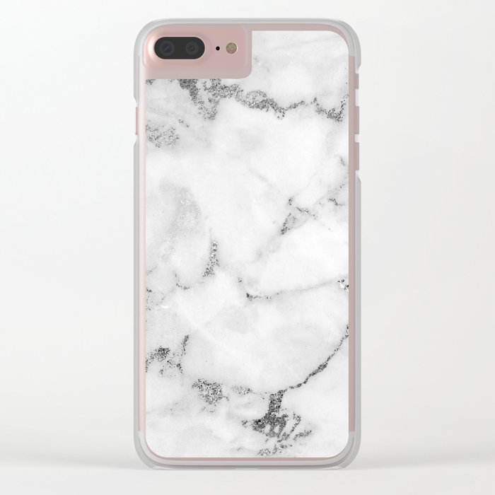 Marble Clear iPhone Case