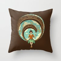 welcome Throw Pillows featuring Welcome to My World by Enkel Dika