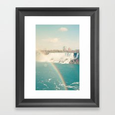 Niagara Falls - View of Buffalo, New York Framed Art Print