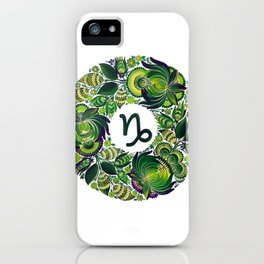 Capricorn in Petrykivka (without artist's signature/date) iPhone Case