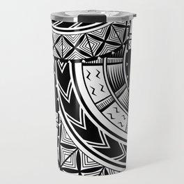 UrbanNesian Black and White Tatau Travel Mug