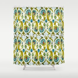 indian cucumbers balinese ikat print mini Shower Curtain