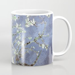 Vincent Van Gogh Almond Blossoms : Steel Blue & Gray Coffee Mug