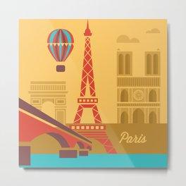 Summertime in Paris Metal Print