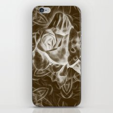 Rose infrared in brown iPhone & iPod Skin